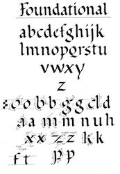 Foundational Hand Uncial Search For Calligraphy Alphabet